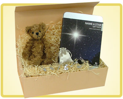 Lovely Gift Boxes Name A Star New Baby Gift
